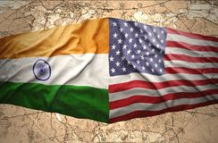 United States of America and India Stock Photos