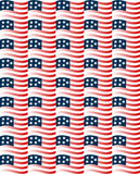 Waving US Flag Background Pattern Stock Photos