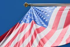 Waving us flag Royalty Free Stock Image