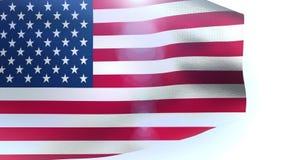 Waving US 48 star flag america usa video animation stock footage