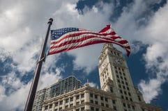 Waving USA flag Royalty Free Stock Photography