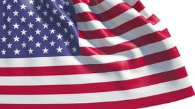 Waving USA flag. 3d animation of waving USA flag (alpha, slow motion stock video