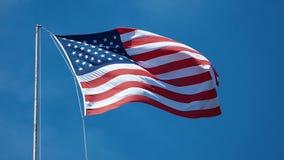Waving USA Flag stock footage