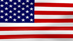 Waving USA Flag, ready for seamless loop stock footage