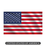 Waving USA flag on a white background. Vector illustration stock illustration