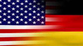 Waving USA and Germany Flag, ready for seamless loop stock video