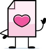 Waving Valentine Royalty Free Stock Photo