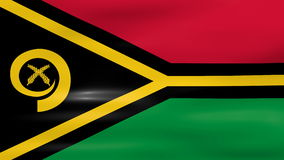 Waving Vanuatu Flag, ready for seamless loop Royalty Free Stock Images