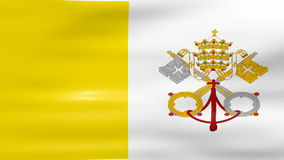Waving Vatican City Flag, ready for seamless loop.  stock video footage