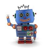 Waving vintage toy robot Stock Photos