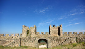 Waving of the walls. Of the old castle royalty free stock photography