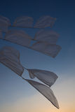 Waving white flags, Burning Man Festival 2012 Royalty Free Stock Photos