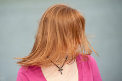 Waving in the wind red hair Royalty Free Stock Image