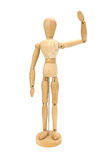 Waving wooden artists Mannequin Stock Photography