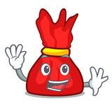 Waving wrapper candy character cartoon vector illustration