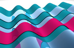 Wavy 3D shiny abstract design Stock Photo
