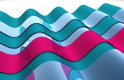 Wavy 3D shiny abstract design Stock Photo
