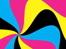 Wavy abstract background. Cmyk colored Royalty Free Illustration