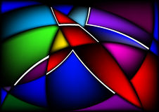 Wavy abstract bright colorful background stock photos