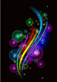 Wavy abstract bright colorful background stock photography
