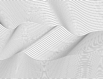 Wavy abstract dark lines. Vector texture stripes Pattern, isolated white background. Able to overlay, easy to change color. vector illustration