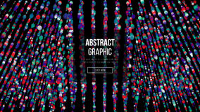 Wavy Abstract Graphic Design. Modern Sense Of Science And Technology Background. Vector Illustration. Abstract Dots Background. Fl Stock Image