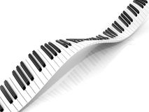 Wavy abstract piano keyboard Stock Image