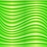 Wavy abstrakt bakgrund för grön vektor Arkivfoto