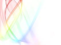 wavy abstrakt färg Arkivfoton