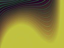 wavy abstrakt gröna linjer Royaltyfri Fotografi