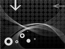wavy abstrakt linje royaltyfri illustrationer