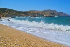Wavy Aegean sea at North Euboea Greece Royalty Free Stock Image