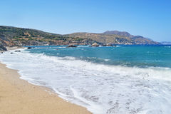 Wavy Aegean sea at North Euboea Greece royalty free stock images