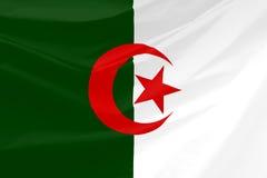 Wavy Algeria Flag Stock Image