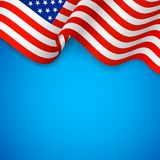 Wavy American Flag. Illustration of wavy American Flag for Independence Day Royalty Free Stock Images