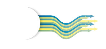 Wavy arrows. Set of wavy arrows with blank half circle tag ready for your text Royalty Free Stock Photos