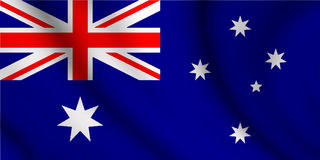 Wavy australian flag illustration. Illustration of the wavy australian flag stock illustration