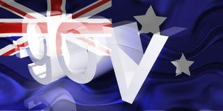 wavy Australien flaggaregering stock illustrationer
