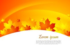 Wavy autumn vector background Royalty Free Stock Photography