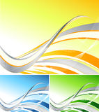 Wavy  backdrop Royalty Free Stock Images