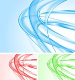 Wavy backdrops collection. Set of abstract wave backgrounds. Vector eps 10 Stock Photos