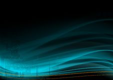 Wavy Background. Abstract illustration for use as a background Stock Photography