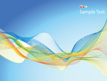 Wavy background. Abstract wavy background easy to resize or change color Stock Photography