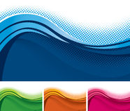 Wavy Background Banner. A set of colorful wavy background banners royalty free illustration