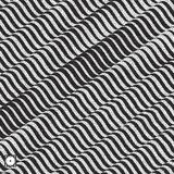 Wavy background. Black and white grainy dotwork design. Pointillism pattern with optical illusion. Stippled vector illustration Royalty Free Stock Photography