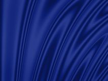 Wavy background: blue Royalty Free Stock Photo