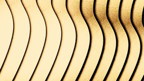Wavy background with delicate golden colour. Abstract white waves of sand texture. vector illustration