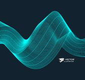 Wavy background with motion effect. 3d technology style. Vector illustration vector illustration