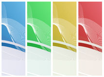 Wavy Backgrounds Set Stock Images