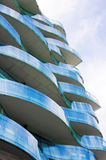 Wavy Balconies Royalty Free Stock Photography
